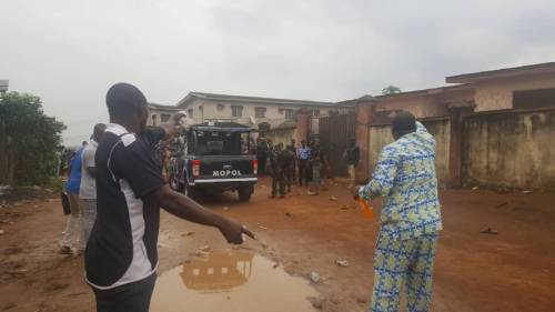 Pregnant-Woman-Chokes-Another-Woman-Coughs-Up-Blood-As-Police-Tear-gas-Lagosians-Seeking-PVCs-PHOTOS4