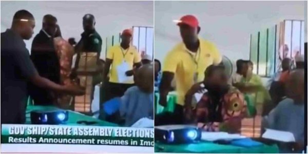 GRAVE MISTAKE! Collation Officer In Imo ARRESTED ON LIVE TV