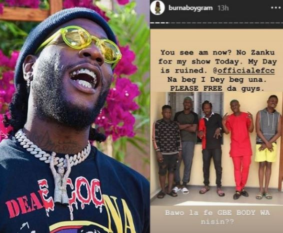 Burna Boy Pleads With EFCC To RELEASE Zlatan Ibile… Says His