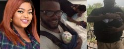 Funke Akindele Shares Lovely Photos Of Her Hubby, JJC Skillz With Their Twin Boys As She Wishes Him #HappyFathersDay