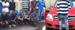 BENZ EVERYWHERE! See 16 Yahoo Boys Arrested In Delta By EFCC And Items Recovered [Photos]