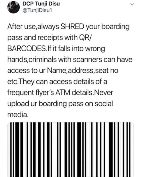 Warning!!!! Criminals Can Hack Your Atm Details With Boarding Pass