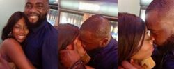 #BBNaija 2019: Close-up Pictures of Khafi and Gedoni Kissing on Phone Given to Housemates