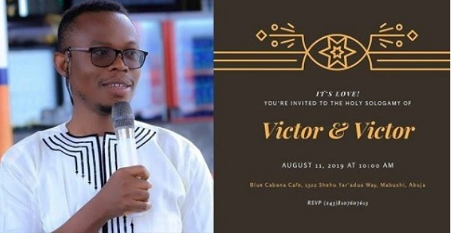 Image result for images of Nigerian counsellor weds himself