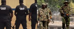 WAR!! Serious Fight Breaks Out Between Soldier And FSARS In Ondo Over Yahoo Boys' N50 Million [Video]
